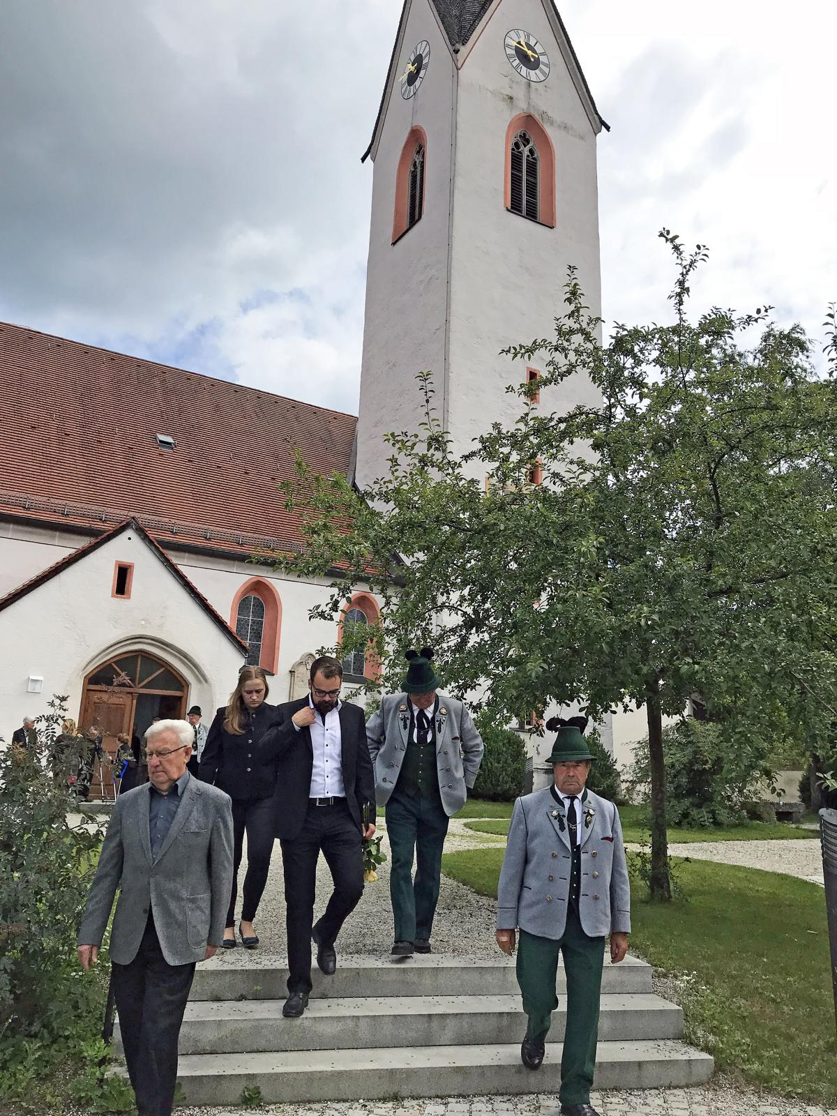 Beerdigung Ehrenvorstand Rupert Sonnenhuber, Amerang (4)