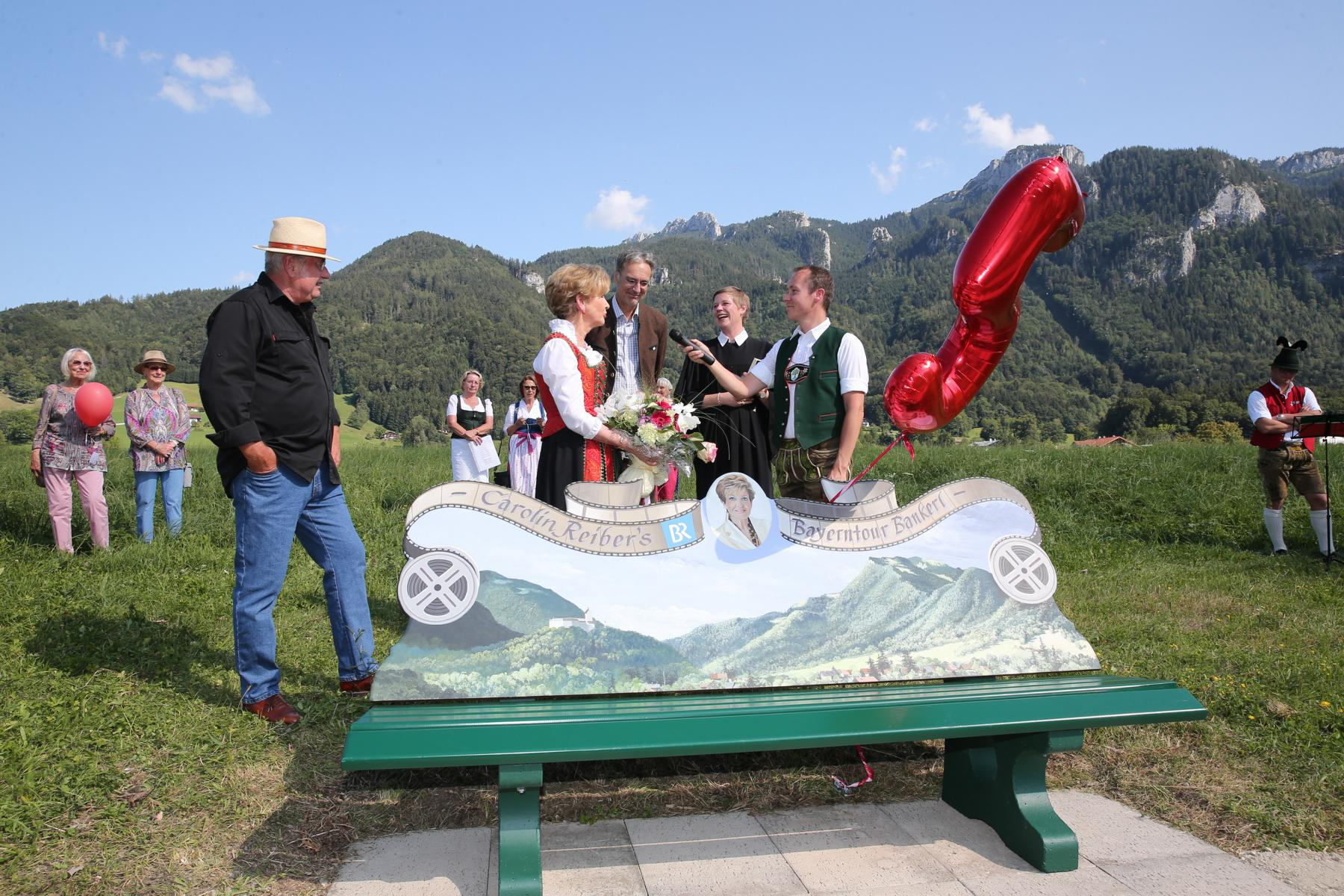Inauguration Of Carolin Reiber's Bench In Aschau